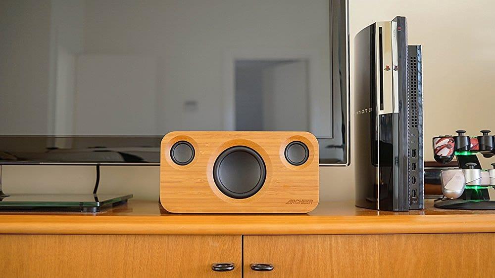 archeer bamboo bluetooth speaker