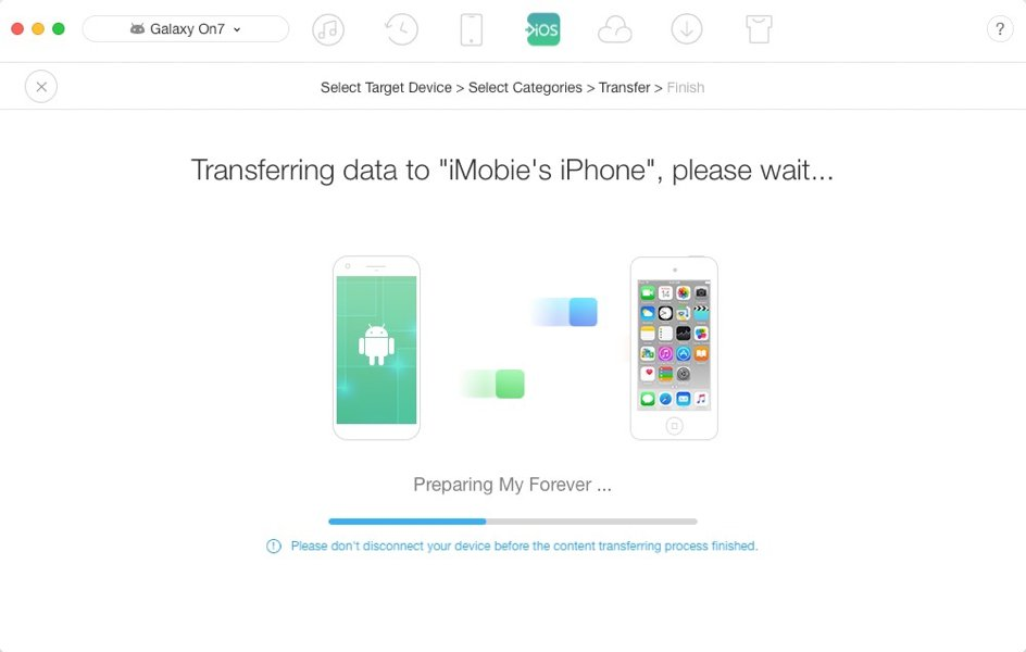 iOS mover transfer
