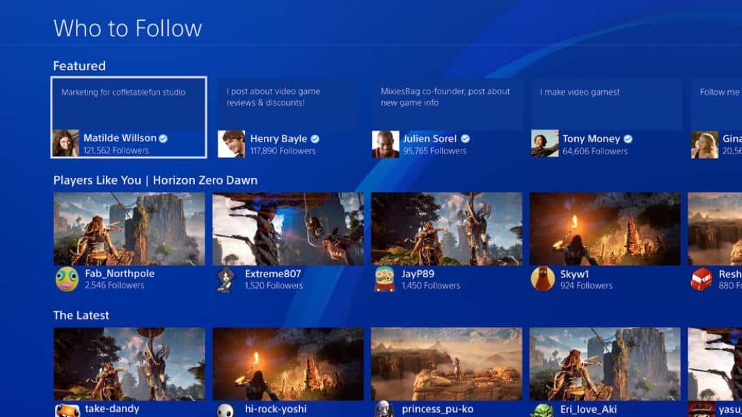 Follow anyone on PSN