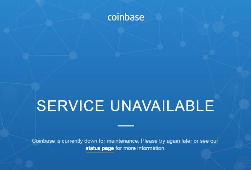 coinbase down