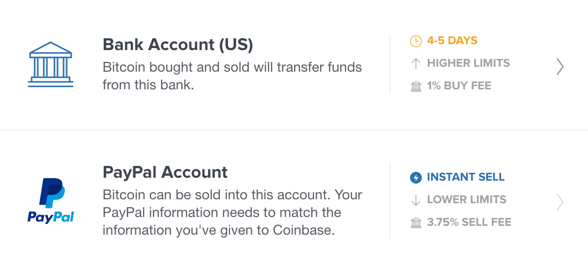 coinbase payment method
