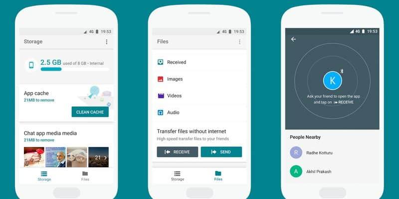 files go transfer app online offline