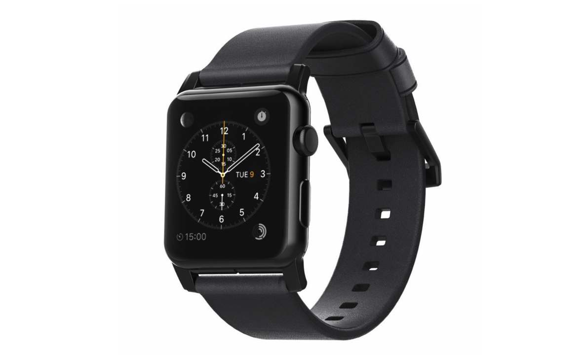 nomad leather strap apple watch