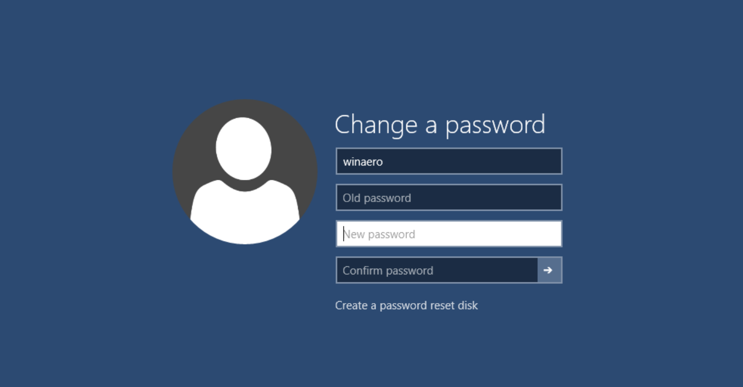windows 10 password