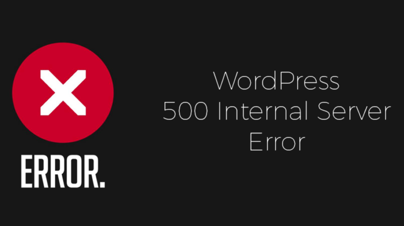 wordpress 500 internal server error