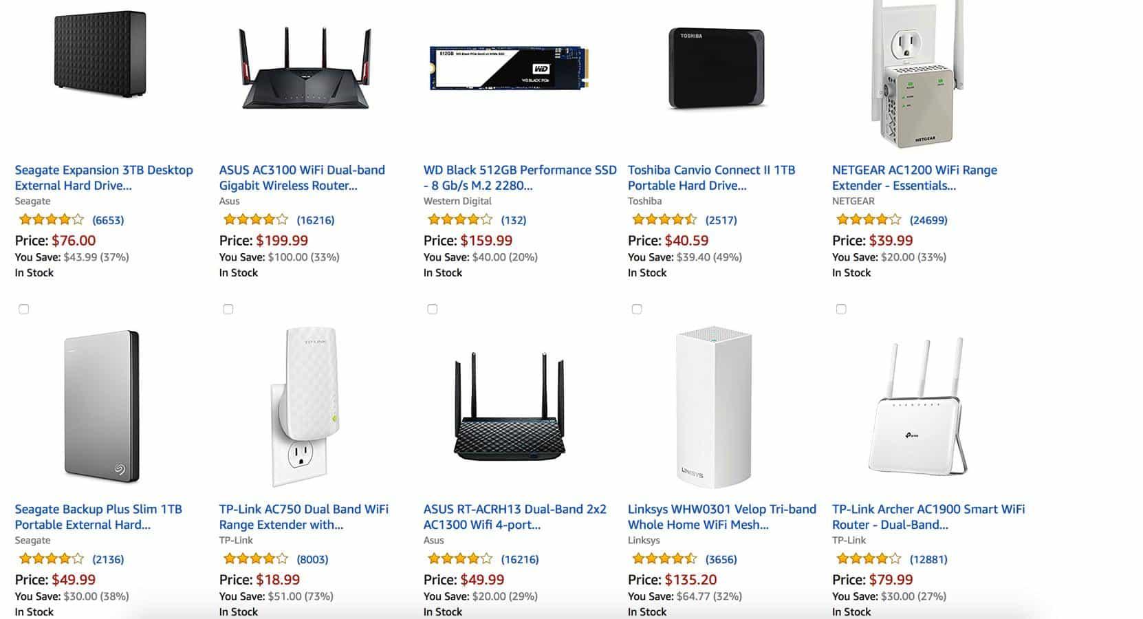 networking gear sale amazon