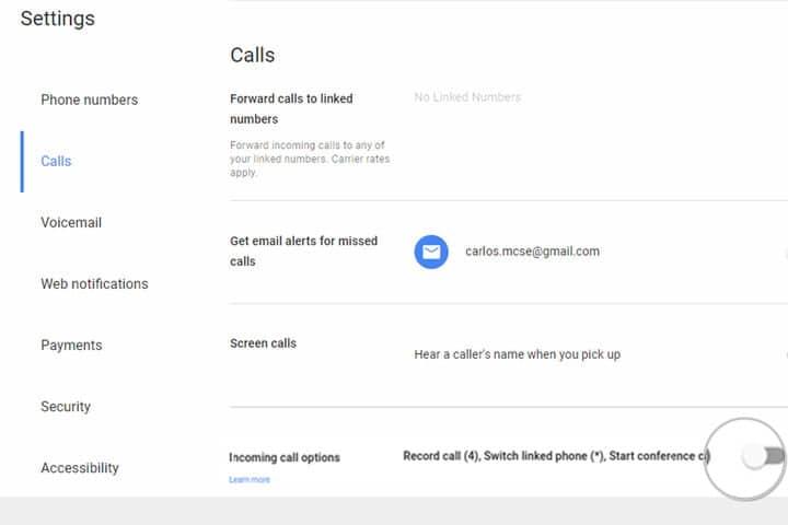 record google voice call