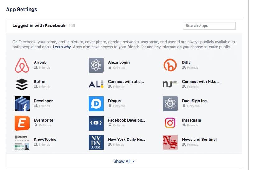 facebook app permisions