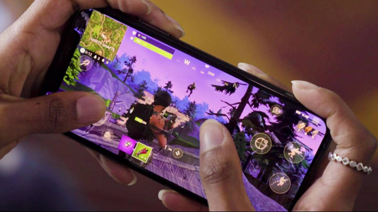 fortnite being played on phone