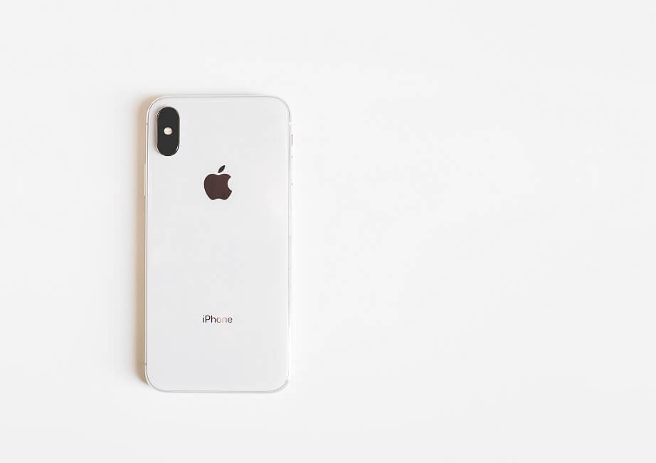 apple iphone x white background