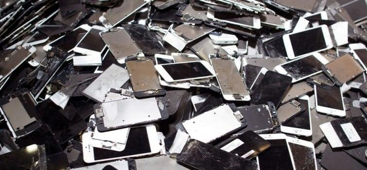 recycled smartphones