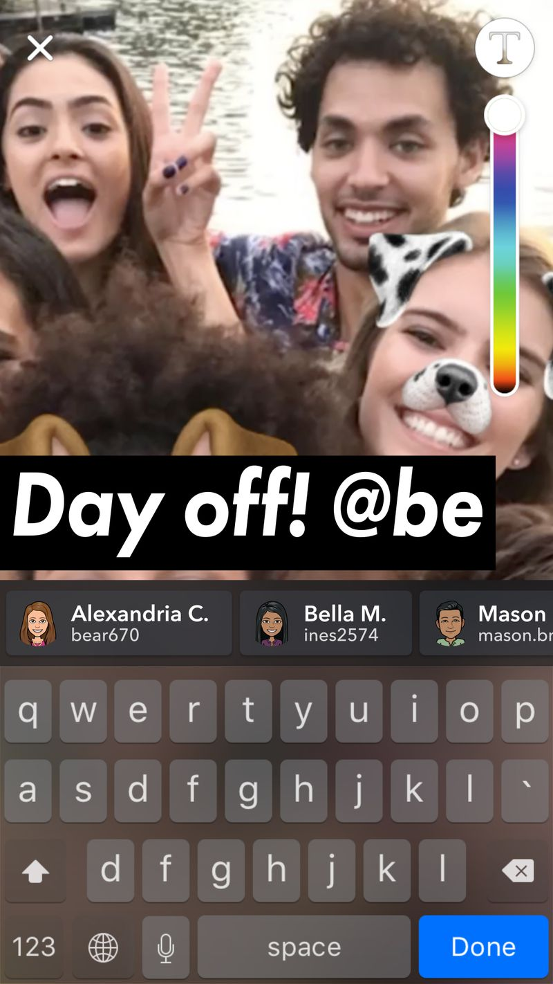 snap mentions story