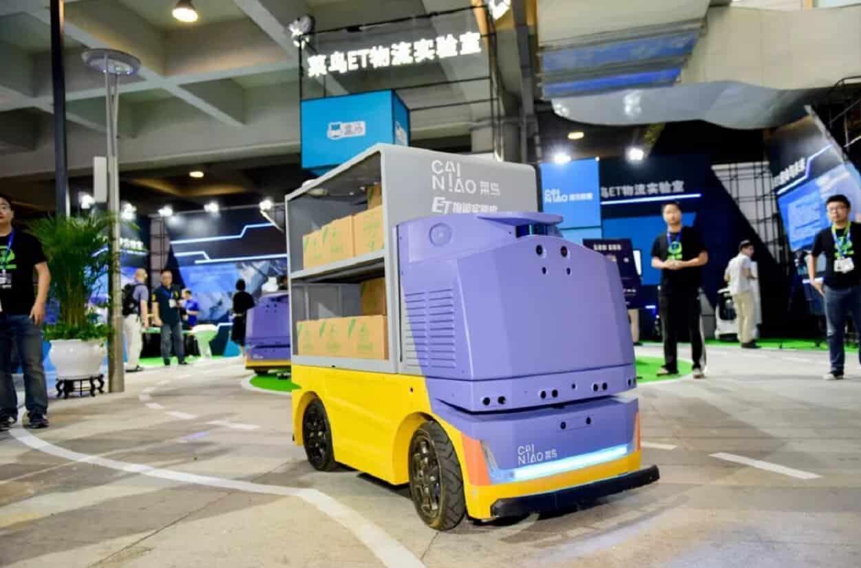 alibaba delivery robot