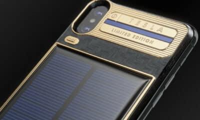 caviar iphone x tesla solar powered