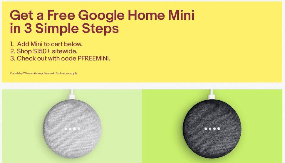 eBay free google home mini