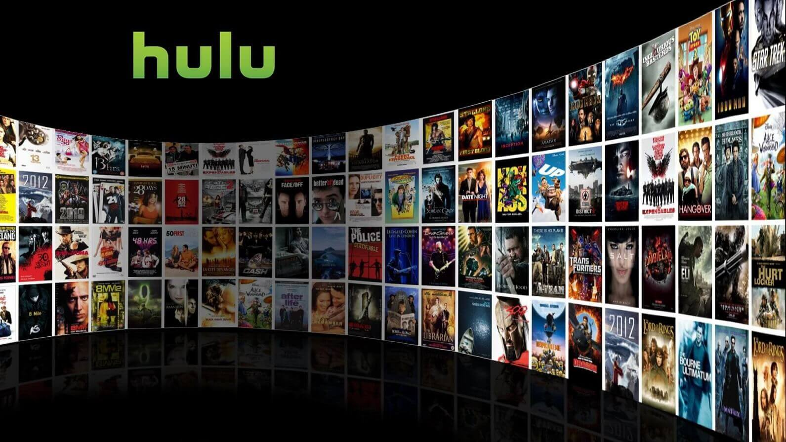 hulu splash screen showing various shows and movies