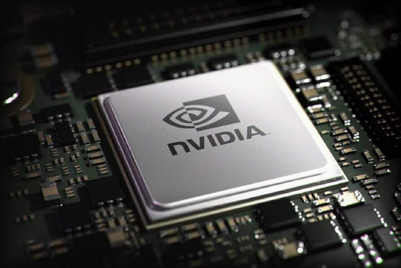 nvidia logo on chip