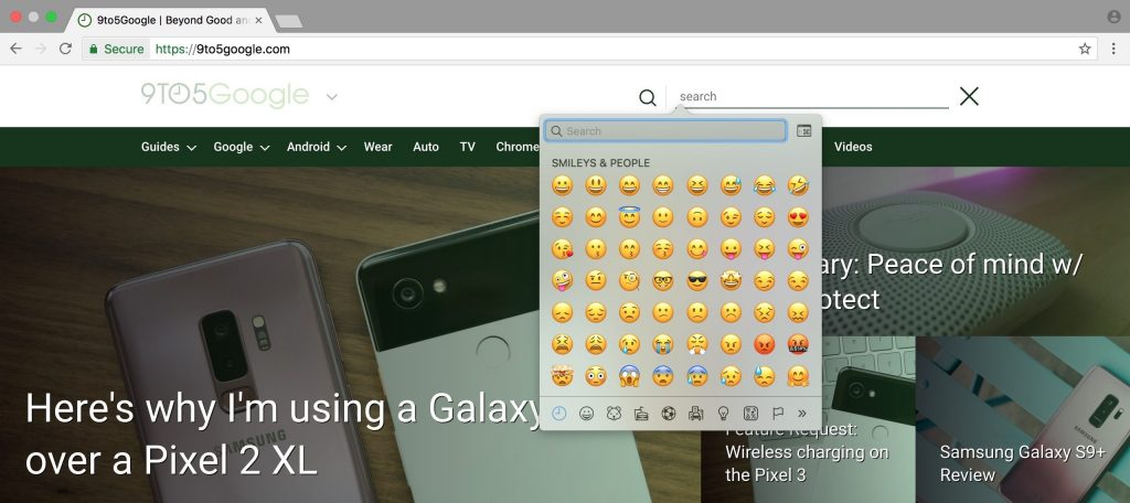 emoji library chrome