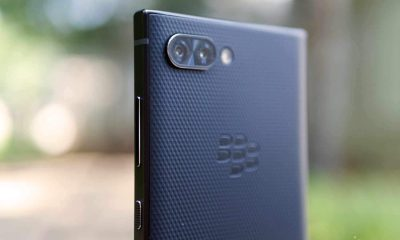 the back of a blackberry key2 smartphone