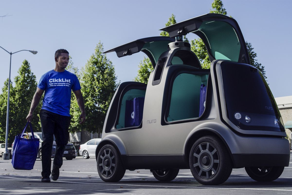 nuro self driving delivery vehicle