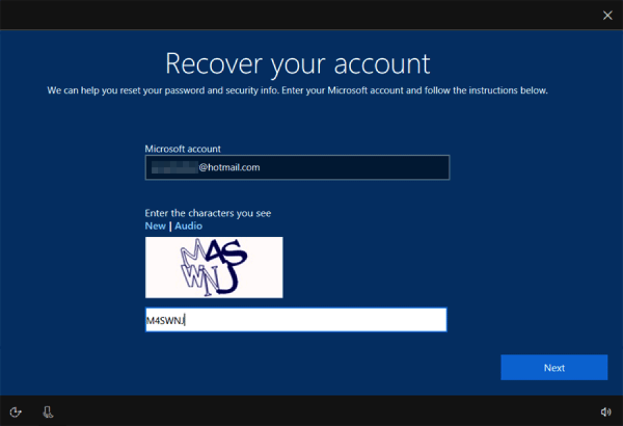 windows account