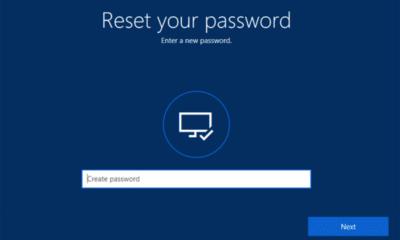 windows new password