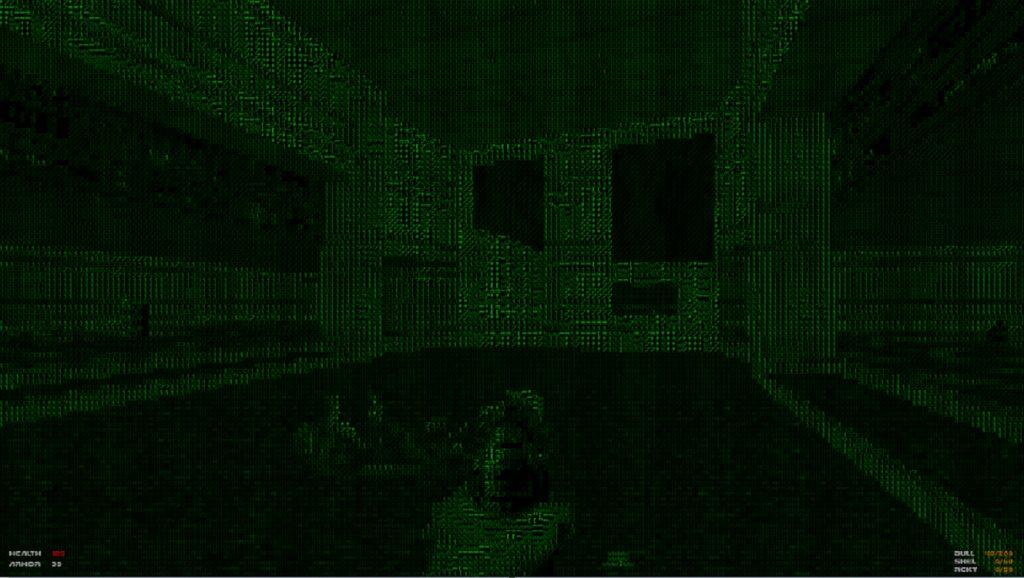 doom ascii matrix