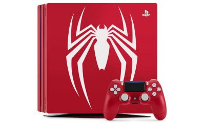 red ps4 pro spider man