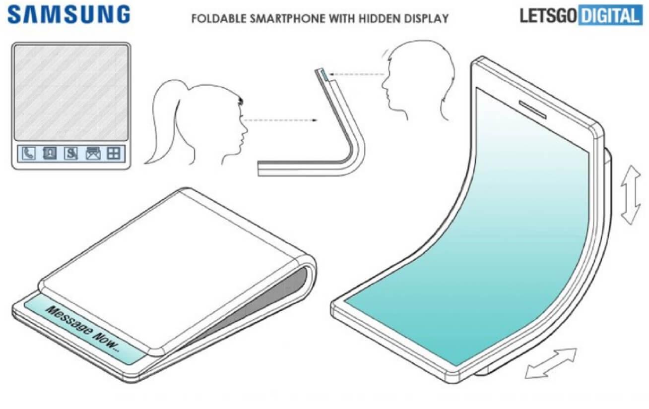 samsung folding phone patent