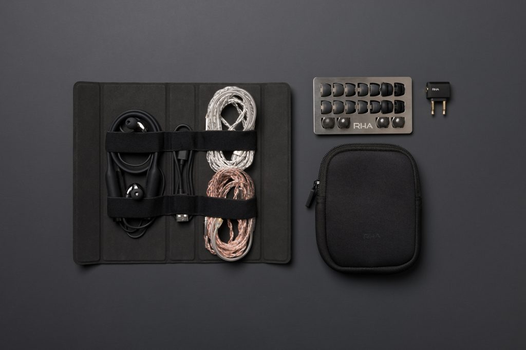 rha cl2 planar earbuds contents of packaging