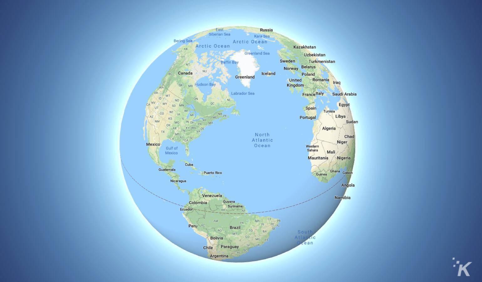 google maps globe mode