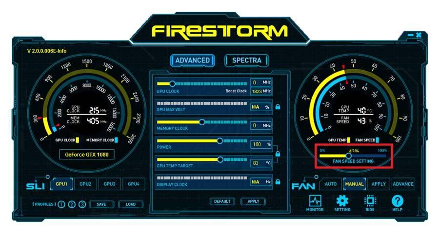 zotac firestorm software