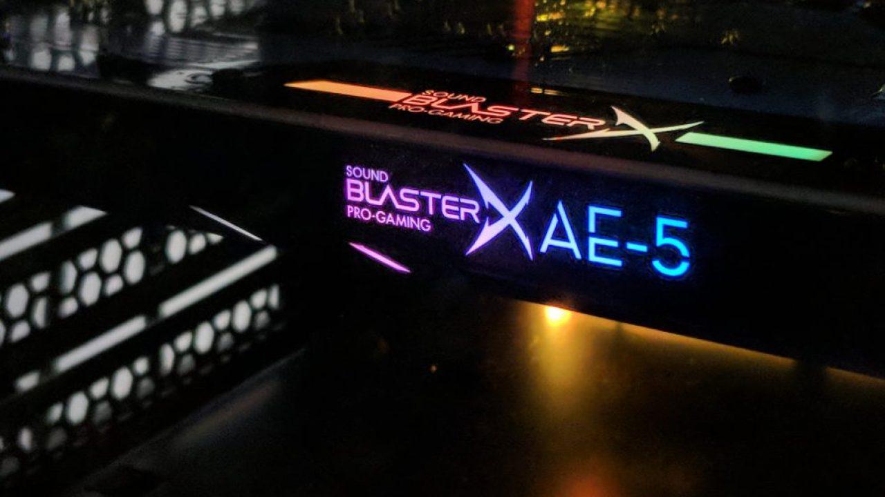 Review: Sound BlasterX AE-5 PCIe sound card
