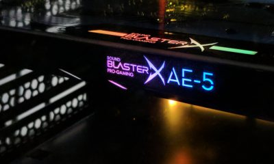 sound blasterx ae-5 sound card in pc
