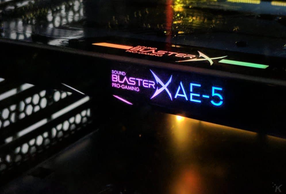 sound blasterx ae-5 sound card in pc