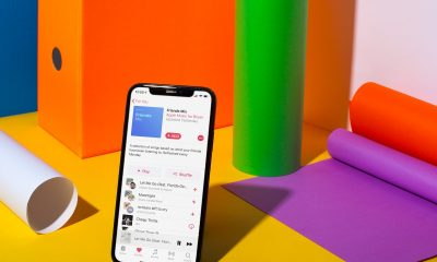 apple music friends mix against colorful background