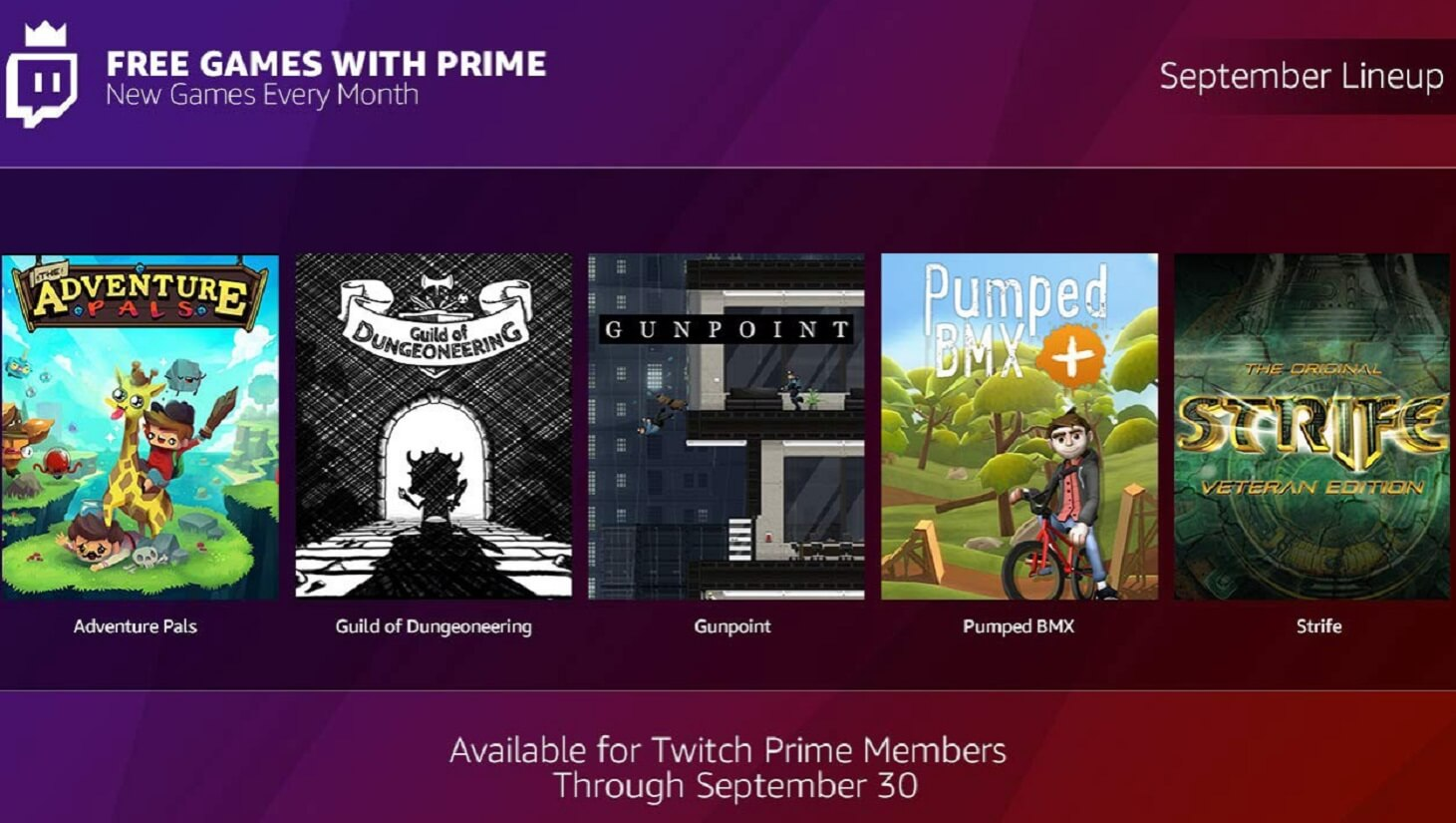 free games with prime september