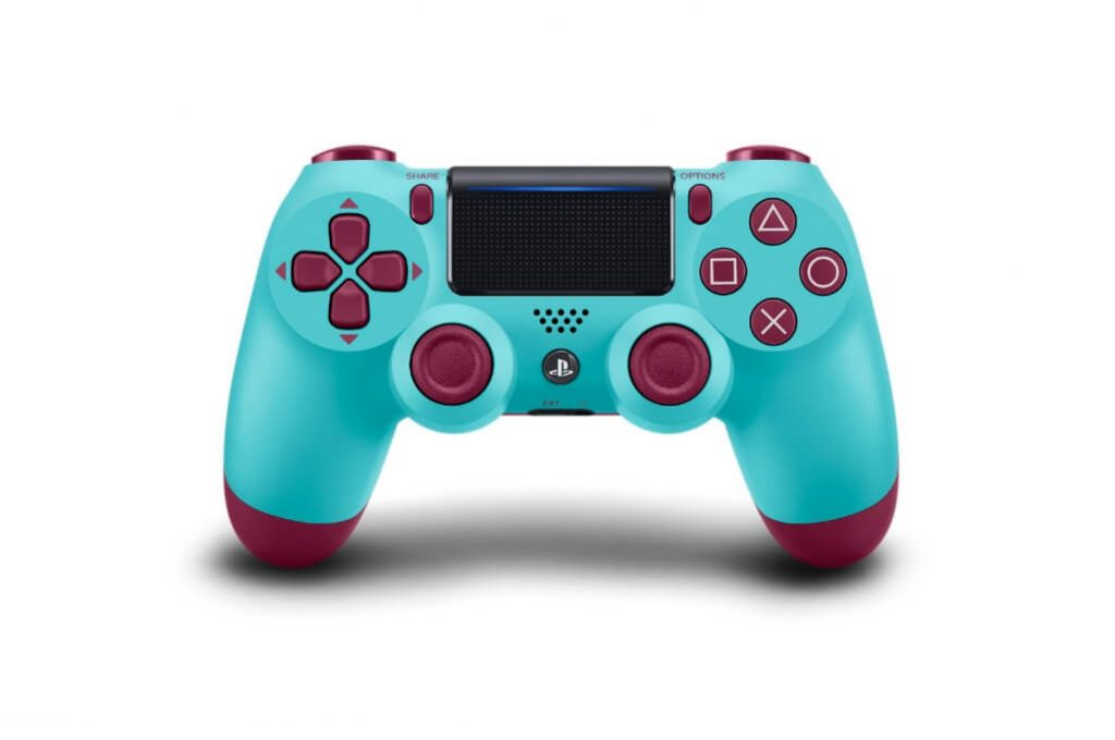 ps4 dualshock 4 controller berry blue