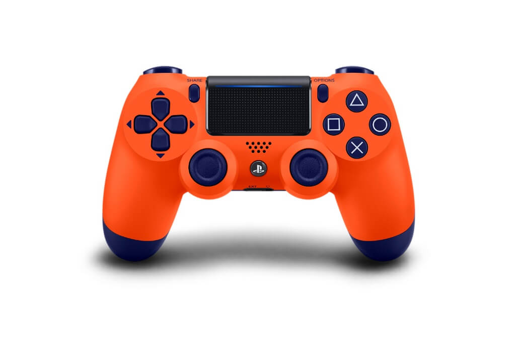 ps4 dualshock 4 controller sunset orange