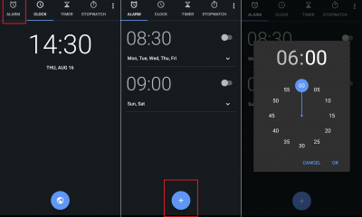 set alarm android