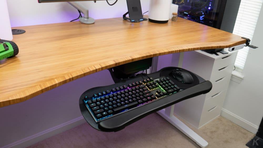 uplift desk keyboard tray