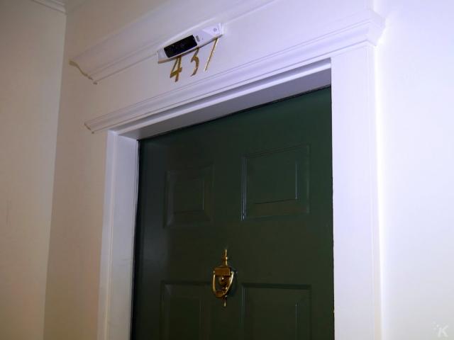 homehawk camera mounted over door