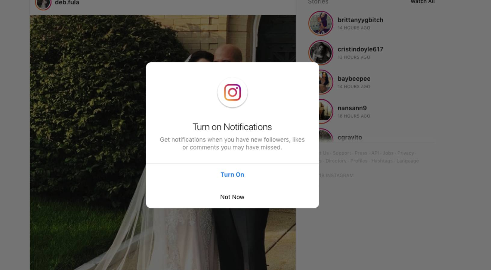 instagram desktop notifications