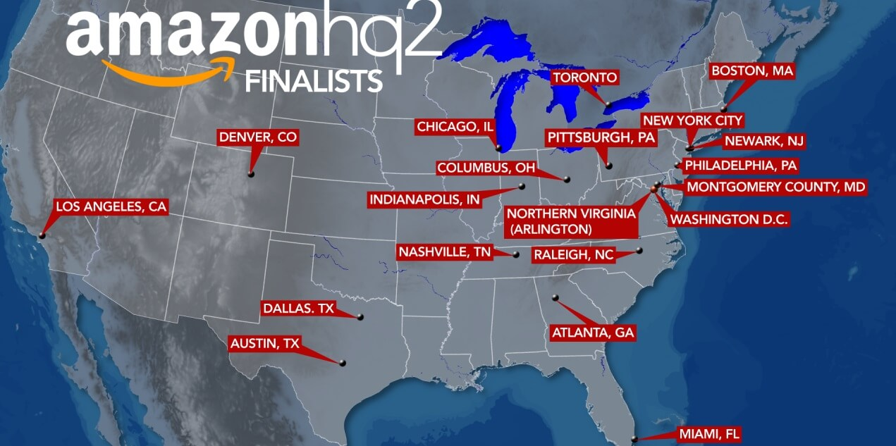 amazon hq2 possible locations