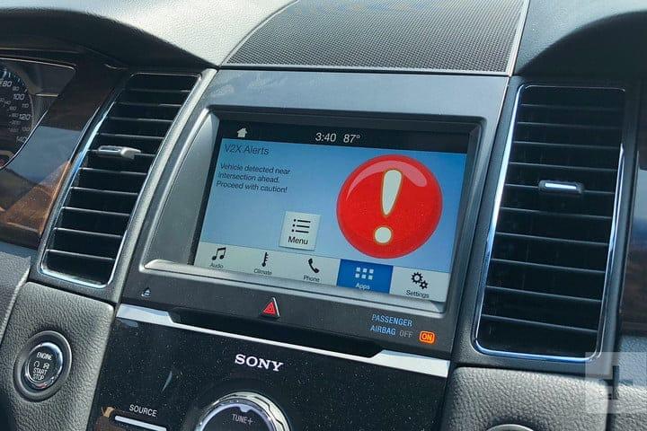 ford denver v2x screen vehicle detected