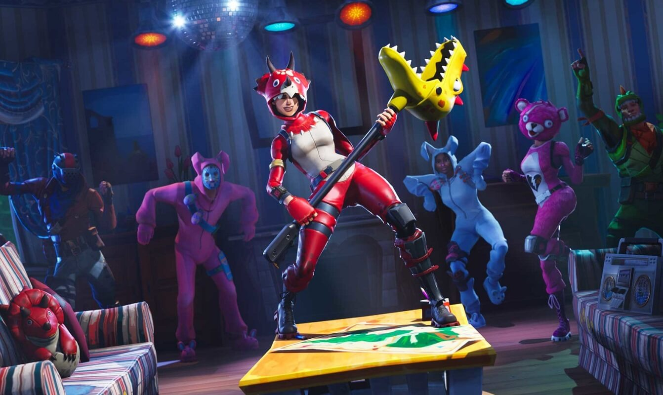 fortnite characters dancing on a stage