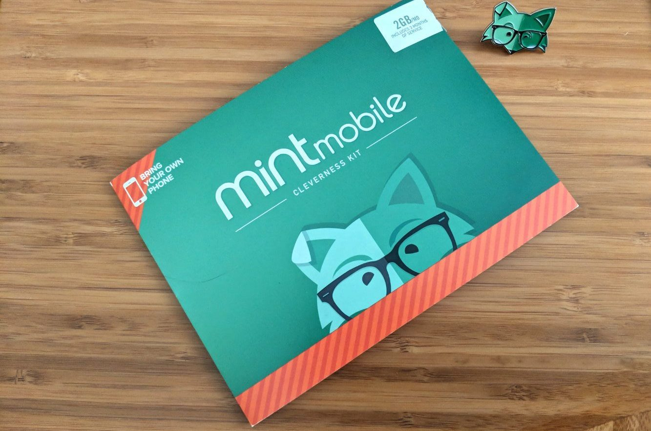 mint mobile sim package on desk