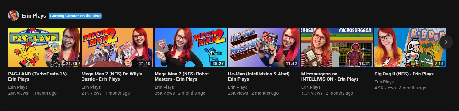 youtube gaming section