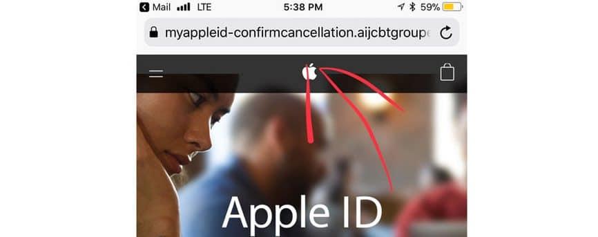 spotify apple id scam