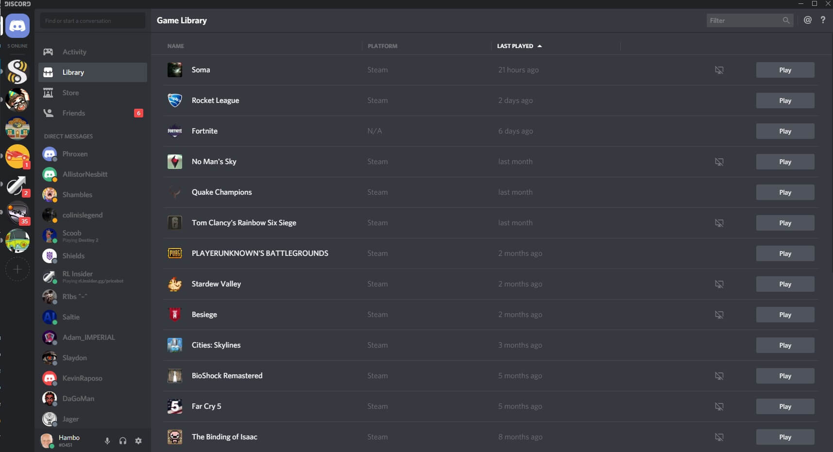 discord library